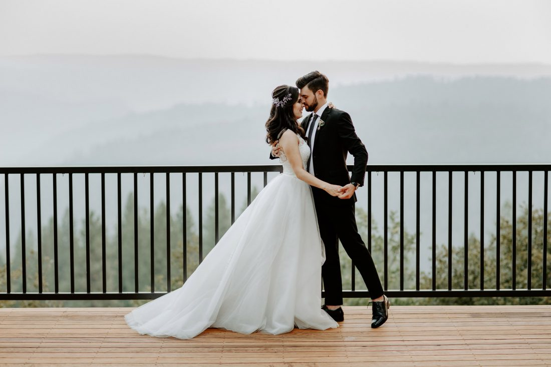 Stunning Couple Photo from a Stunning wedding at Mountain Shadow Retreat