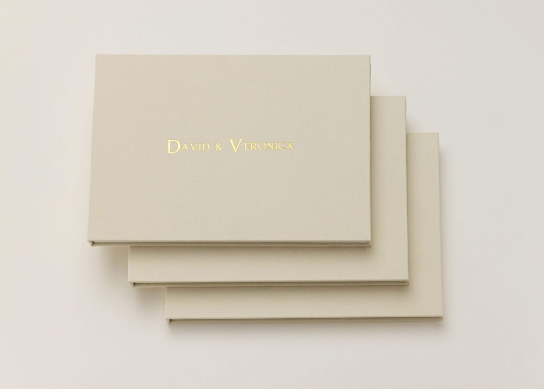 Linen Wedding Video Albums that play your wedding video - The Motion Books